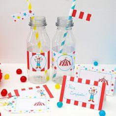 A imprimir: Etiquetas Circo - Pluie de Confettis