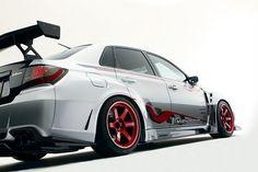 Aero specialist Varis has released a new body kit for the GVB Subaru Impreza WRX STi sedan. The kit gives the wide body WRX STi a track oriented makeover.