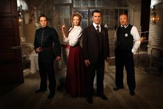 Murdoch Mysteries... sometimes it's silly and often the low budget shows, but I love it. Although I can't help but wonder why Murdoch wears eyeliner and none of the other men do. None of the women seem to, for that matter.