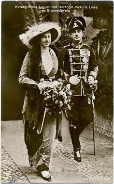 Viktoria Luise and Ernst August, Duke and Duchess of Brunswick. parents of Queen Frederica of The Hellenes Princesa Victoria, Ernst August, Queen Sophia, Princess Alice, Picture Postcards, Herzog, Royal House, Queen Victoria, Portraits