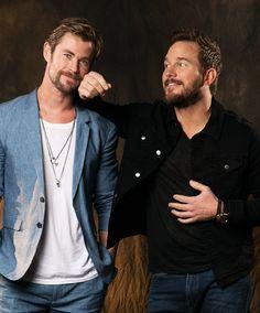 Chris Hemsworth & Chris Pratt Photographed by Dan MacMedan for USA Today