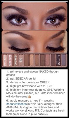 Best Ideas For Makeup Tutorials : Naked Palette Tutorial – Make Up for Beginners & Make Up Tutorial Kiss Makeup, Cute Makeup, Beauty Makeup, Hair Beauty, Maquillage Urban Decay, Make Up Inspiration, Creative Inspiration, Naked Palette, Eye Makeup Tutorials