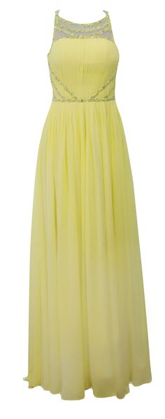 http://hire.girlmeetsdress.com/products/yellow-pleated-gown ELLIOT CLAIRE Yellow Pleated Gown Hire: £79 Girl Meets Dress Dress Hire, Rent a Dress