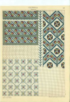 Cross Stitch Floss, Ely, Pattern Books, Romania, Fabrics, Costume, Quilts, Blanket, Rugs