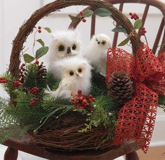 Last Trending Get all owl christmas tree decorations Viral centerpiece over the river Owl Christmas Tree, Christmas Baskets, Christmas Ornament Sets, Noel Christmas, Rustic Christmas, Christmas Wreaths, Christmas Crafts, Xmas, Christmas Greenery