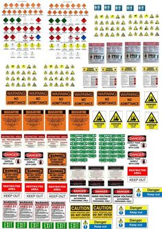 Warning, caution posters and signals Terrain 40k, Wargaming Terrain, Modele Lego, Vitrine Miniature, Modeling Techniques, Free To Use Images, Military Diorama, Model Train Layouts, Paper Models