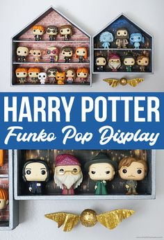 Discover recipes, home ideas, style inspiration and other ideas to try. Harry Potter Display, Décoration Harry Potter, Harry Potter Bedroom, Geek Crafts, Diy And Crafts, Decor Crafts, Funko Pop Display, Funko Pop Shelves, Logos Retro