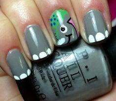 Nails by an OPI Addict: Elephants! I love Elephants ;)