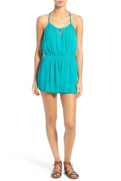 'Columbia' Embellished Woven Romper