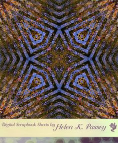 Blue and Gold Kaleidoscope Digital Scrapbook Paper by VagrantAirs, $1.50