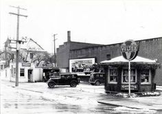 Service station, SE 5th & Main St, Moscow. Feb. 12, 1935. Current site of The Storm Cellar!