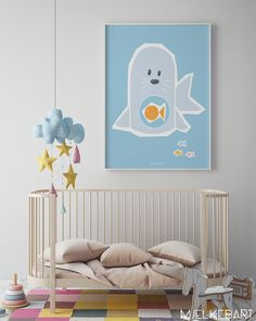 Mjelkebart: Colour, Magic and Lots of Imagination http://petitandsmall.com/mjelkebart-wall-art-nursery/