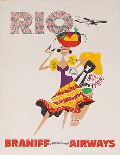 Rio de Janeiro * Braniff Airways (1960s)