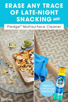 Wipe away the remnants of late-night snacking and get your tables back to their natural beauty with Pledge® Clean It. It's tough on messes—takes care of fingerprints, smudges and smears—making it a secret weapon to cleaning-up. Diet Recipes, Dessert Recipes, Cooking Recipes, Summer Outfits For Teens, Late Night Snacks, Health And Fitness Tips, Whole 30 Recipes, Bath And Body Works, Smoothies