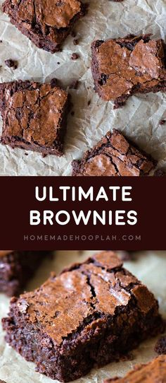 Ultimate Brownies! If you're looking for a go-to brownie recipe to add to your baking arsenal, I guarantee this is the BEST brownie recipe out there, hands down! | HomemadeHooplah.com