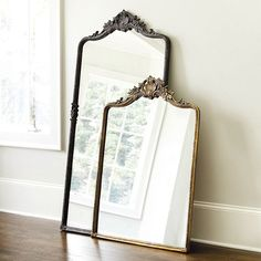 Who sells mirror decor? Find stylish mirror decor, wall art mirrors, and more at Ballard Designs today! Ballard Designs, Anthropologie Mirror, Spiegel Design, Boho Home, Décor Boho, Barndominium, Decorating Tips, Hallway Decorating, Oversized Mirror