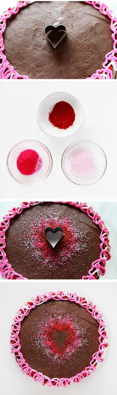 Heart Shape in Sprinkles for Cake Decorating- Perfect for Valentine's Day!