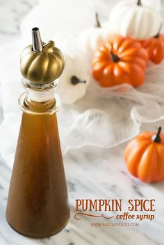 Make PSLs at home with Homemade Pumpkin Spice Coffee Syrup..I could use this in steamers!!
