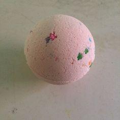 Pink Grapefruit Bath Bomb-All Natural-Handmade by HollysAbstractArt on Etsy