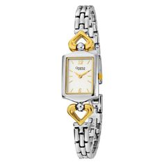 Caravelle by Bulova Womens 45L112 Bracelet TwoTone Square Watch *** Learn more by visiting the image link.
