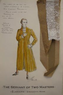 Costume Designer: Servant of Two Masters College Subjects, Costume Design Sketch, Masters, Sketches, Costumes, Statue, Drama, Painting, Master's Degree
