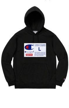 36d1bfbd352f Supreme Champion Label Hooded Sweatshirt - Black - Size Large - Order  Confirmed!  fashion