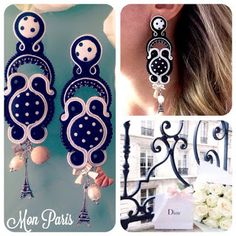 Veronique Creazioni Shibori, Soutache Earrings, Drop Earrings, Make Photo, Costume Jewelry, Jewelery, Handmade Jewelry, Jewelry Making, How To Make