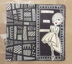 No automatic alt text available. Art Journal Prompts, Art Journal Techniques, Journal Paper, Art Journal Pages, Art Journals, Journal Ideas, Kunstjournal Inspiration, Art Journal Inspiration, Zentangle Drawings