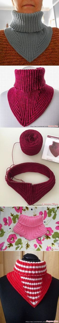 Манишка от Николы Susen- Could be modified for necklines Knit Or Crochet, Crochet Scarves, Crochet Shawl, Knitting Patterns Free, Knit Patterns, Free Knitting, Knitting Projects, Crochet Projects, Knitting Accessories