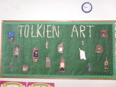 This is natural pieces of bark that we used to created a creature from The Hobbit. We used acrylic paints.