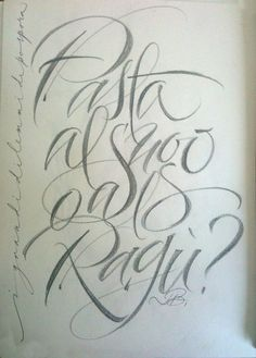 ✍ Sensual Calligraphy Scripts ✍ initials, typography styles and calligraphic art - Luca Barcellona