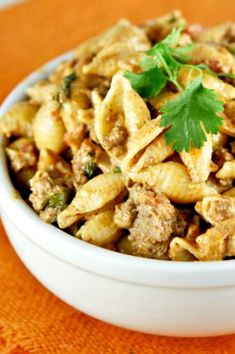 Taco Pasta has all the taco flavor you love in a simple skillet meal! Its creamy sauce marries meat, taco seasoning, and pasta wonderfully! Tater Tot Breakfast Casserole, Corn Casserole, The Fresh, Pasta Dishes, Cooking Recipes, Pasta Recipes, Dinner Recipes, Beef Recipes, Dinner Ideas