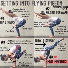 いいね!878件、コメント9件 ― Roxanne Ganさん(@roxanne_yoga)のInstagramアカウント: 「. A little late but here's a little guide to helping you find your flying pigeon pose. . Having a…」
