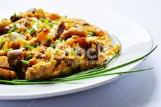 Scrambled eggs with oyster mushroom