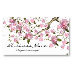 20 best cherry blossom business cards images on pinterest cherry cherry blossom tree branch 2 business card colourmoves
