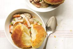 Slow-Cooker Creamy Chicken and Mushroom Potpie Recipe | Real Simple