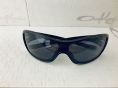 2fa9606e66 New Oakley Ideal Polished Black Grey Lens 9151 03 Women s Shield Sunglasses   fashion  clothing
