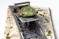 Thunderbird 2 scale model on launch pad Thunderbirds Are Go, Model Maker, Launch Pad, Lego Design, Model Kits, Retro Futurism, Music Tv, Scale Models, Super Cars