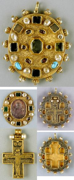 Reliquary Pendant. This pendant reliquary, was worn around the neck of its owner, is an excellent example of the continuing tradition of Byzantine art. The reliquary consists of a hinged outer case with a smaller reliquary inside. In the case of the pendant, the inscription names the original owner, Arsenios, metropolitan of Serres in northeastern Greece. Serres was a center of art production in the sixteenth century, so it may was made there.