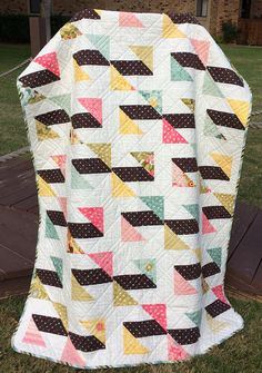 An Ultra Modern 44.5 X 62 Quilt In The Line Called