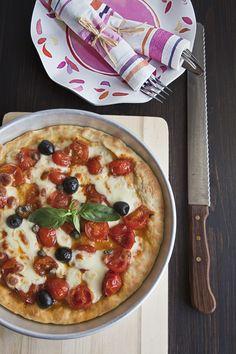 Pizza sottile e croccante