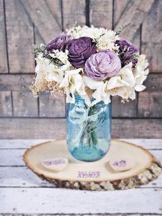 Large Floral Arrangement, Cancer Fundraiser, Centerpiece, Home Decor, Purple Ivory Wedding Reception, Wedding Decor, Sola Flowers