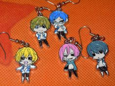 FREE Anime Earrings Iwatobi Swim Club Mix and Match by laminartz, $6.00