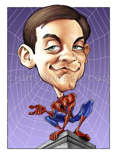celebrity+caricatures | Tobey Maguire Caricature