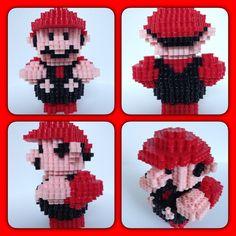 3D Super Mario perler beads by eightbitbert on DeviantArt