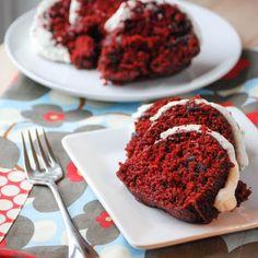 Red Velvet Chocolate Chip Bundt Cake