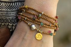 Hey, I found this really awesome Etsy listing at https://www.etsy.com/listing/294712883/om-bracelet-pearl-bracelet-tourmaline