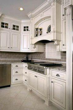 Read on to find 10 antique white kitchen cabinets that will jazz your kitchen up. Antique Kitchen Cabinets, Refacing Kitchen Cabinets, Kitchen Cabinet Storage, Built In Cabinets, Diy Cabinets, Cabinet Refacing, Rustic Cabinets, White Cabinets, Walnut Kitchen