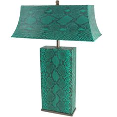 Karl Springer Table Lamp in Python | See more antique and modern Table Lamps at http://www.1stdibs.com/furniture/lighting/table-lamps