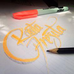 #Lettering #Sketch Rosita Fresita por #PragmaEstudioCreativo